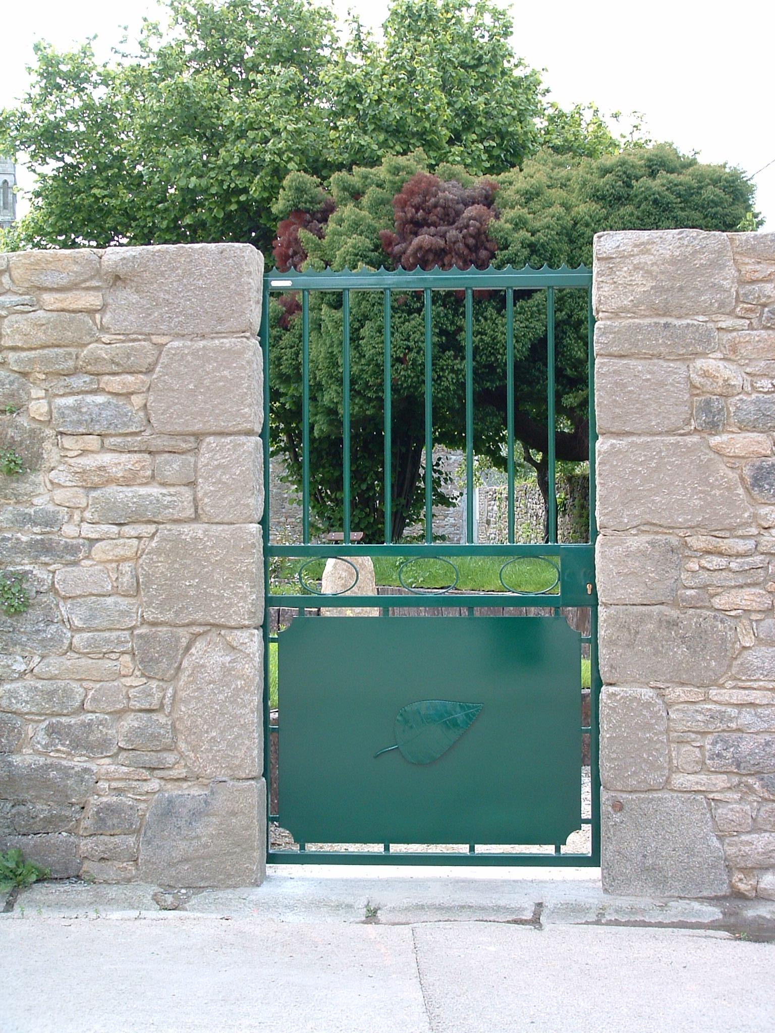 portillon d'accés au jardin