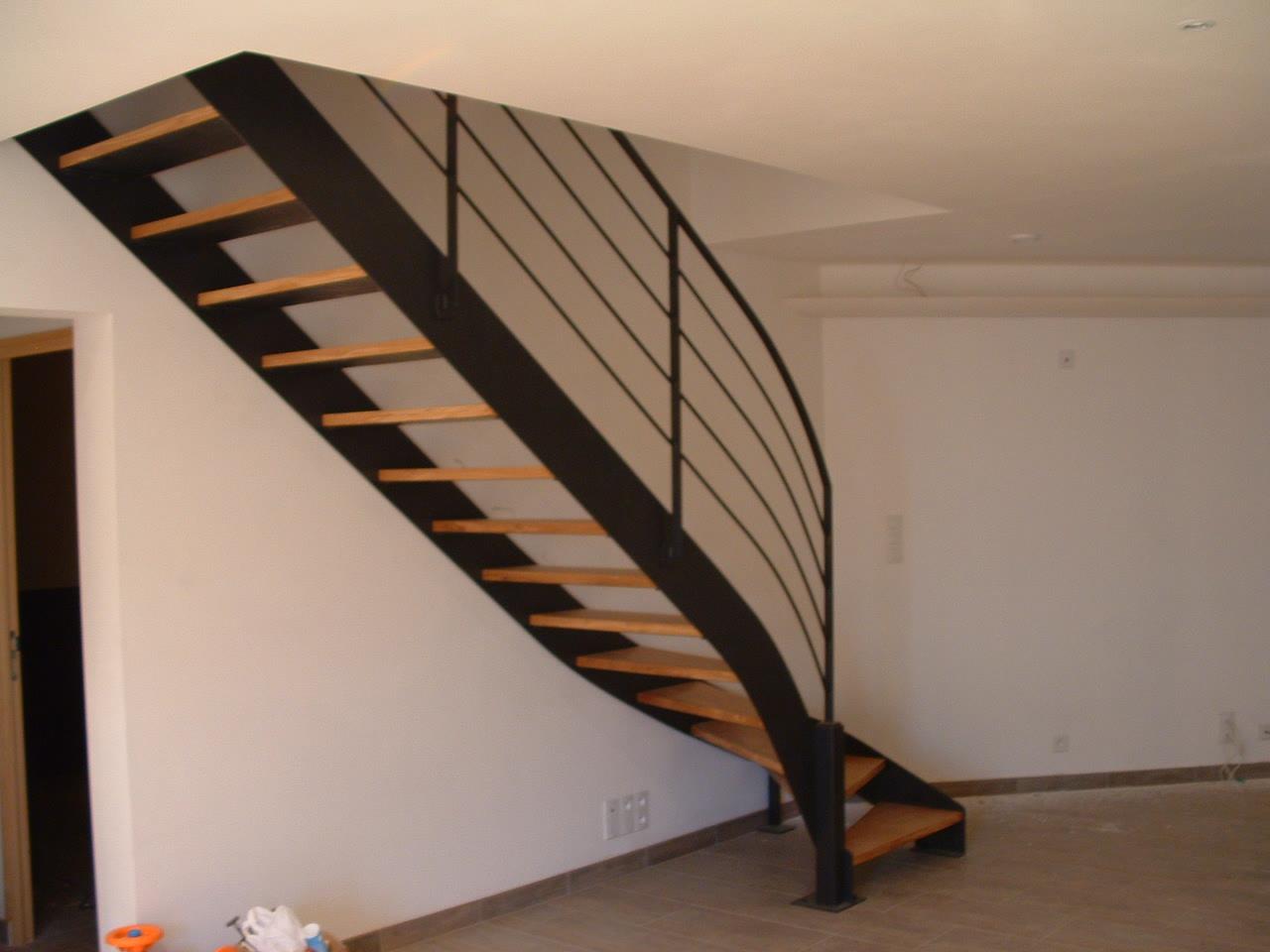 escalier à départ balancé